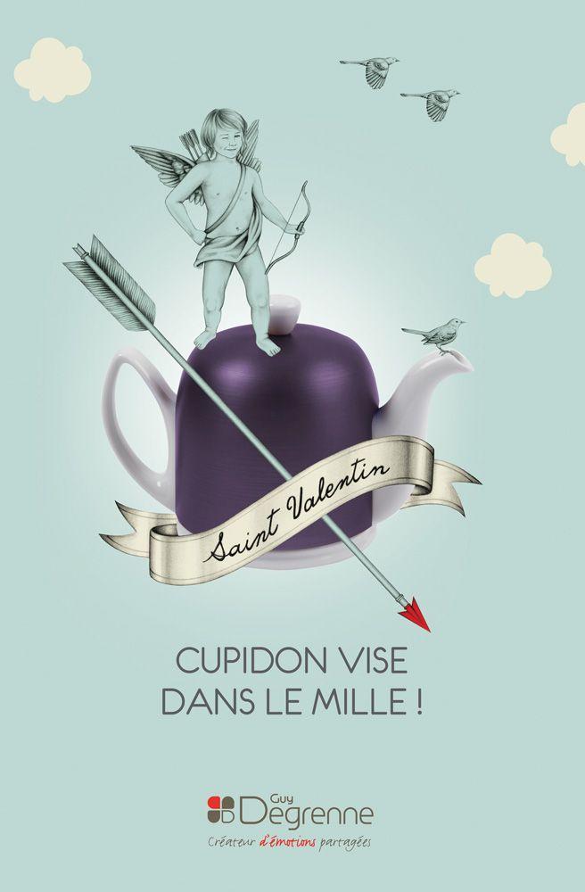 Cette année, à l'occasion de la Saint Valentin, Cupidon vise dans le mille avec l'aide de la talentueuse Lauren Mortimer pour la campagne Guy Degrenne !