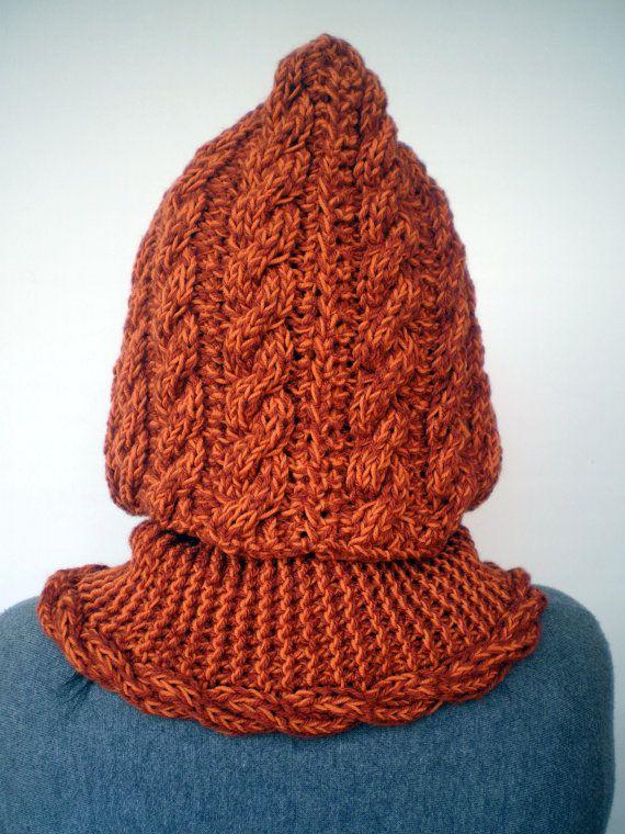 Señora Marion Hood Super suave mezcla de lana con por NonnaLia