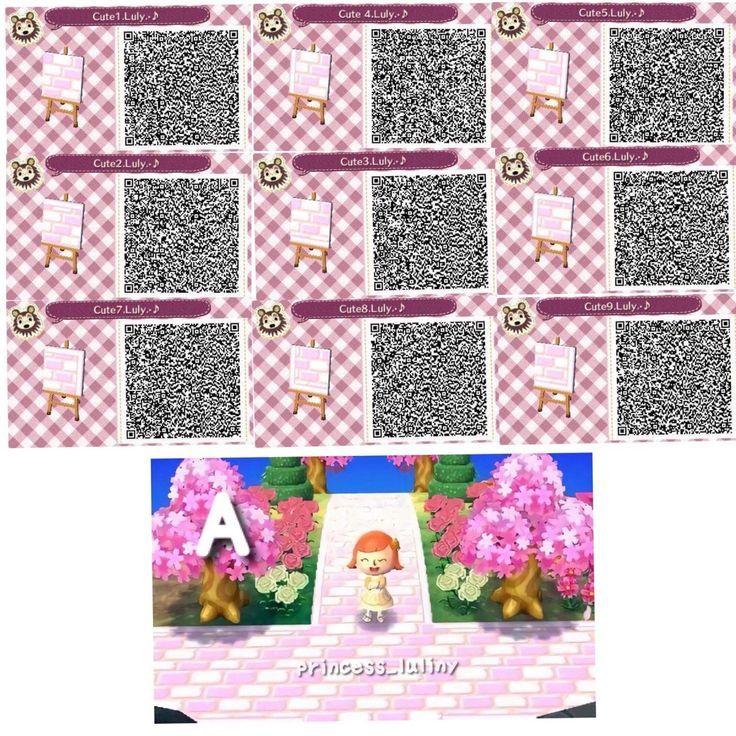 Pastel Pink Brick Path Animal Crossing New Leaf