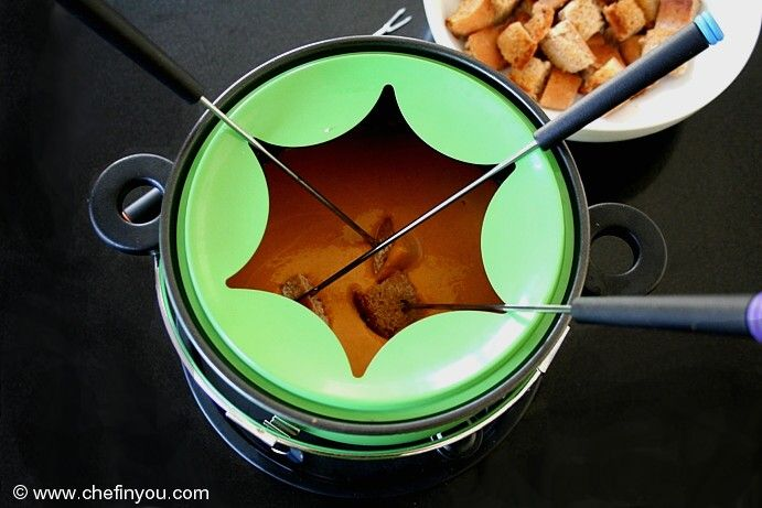 Fusion Food- Indian street food meets Gourmet. Pav Bhaji Fondue, extremely simple to make, quick to put together and a fun food for adults and kids alike.