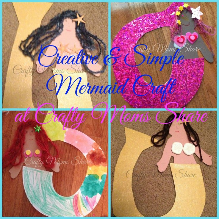 Crafty Moms Share: Creative Mermaid Craft