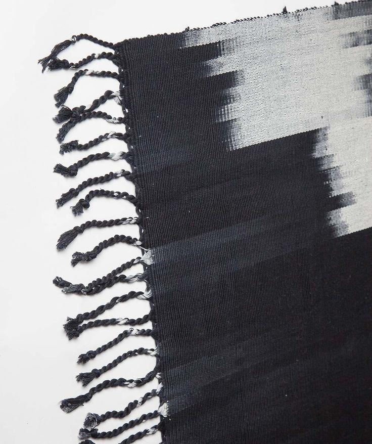 Black Stairstep rug. | http://www.huntingforgeorge.com