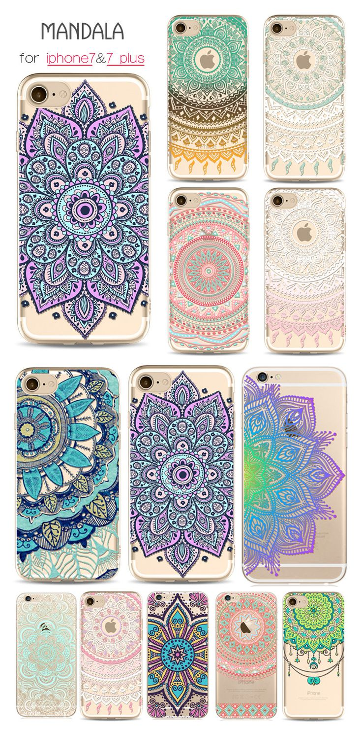 US$3.99 Mandala Soft TPU Phone Cases For iphone 7 Plus 6 6s 5 Creative Mobile Phone Protective Cover