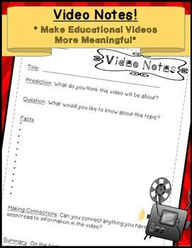 Video Notes! Great May or June activity!