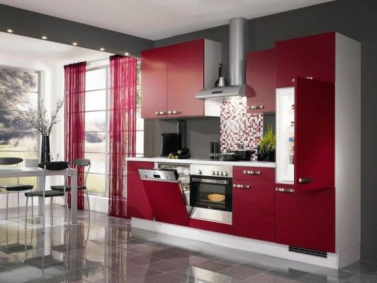Luxury Red and Grey Home Decorating
