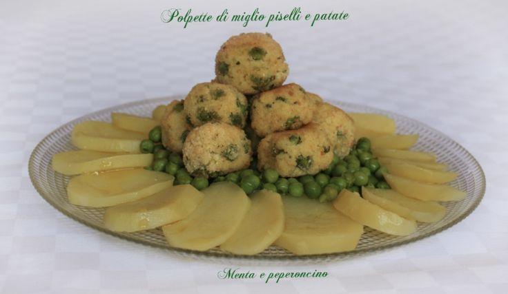 Polpette di miglio piselli e patate