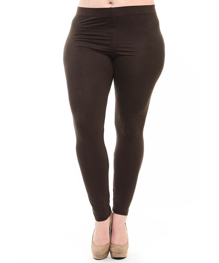Brown Leggings - Plus