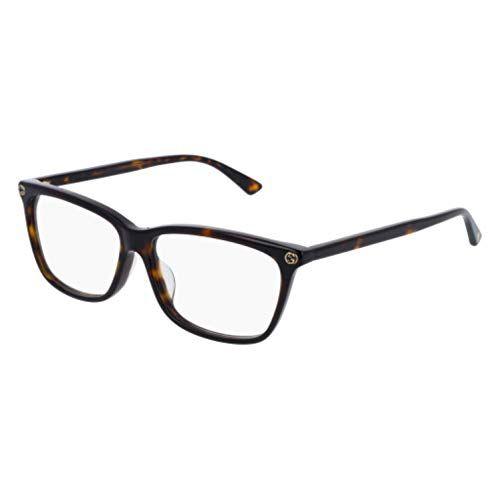 d563bbdd412cd Gucci GG0042OA Eyeglasses 002 Havana-Havana   Clear Lens 55mm