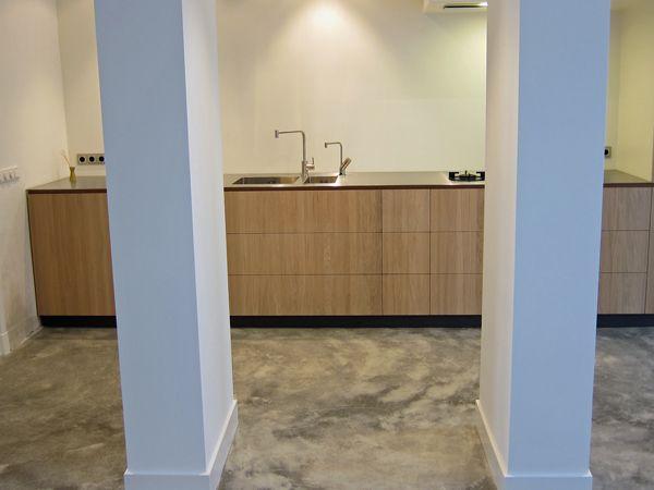 Eindhoven: Robuste betonlook - gepleisterde cementdekvloer naturel