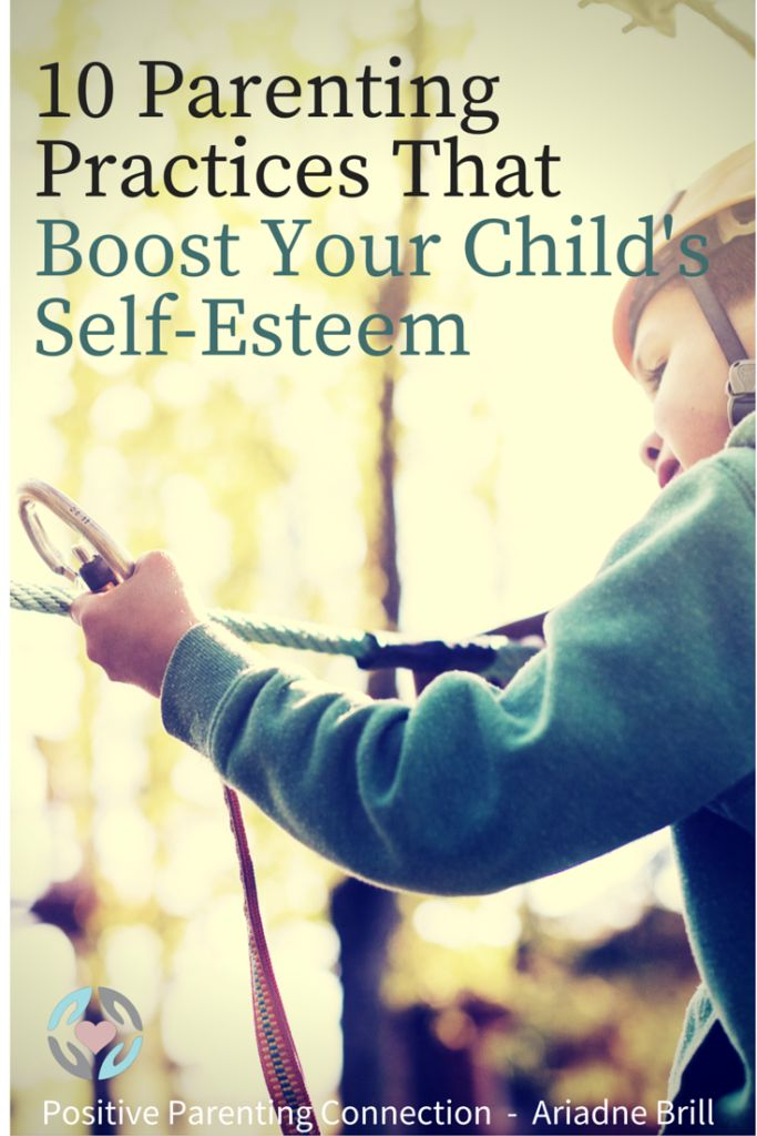 """The way we parent and communicate with our children can certainly have an impact on their self-esteem. There are parenting practices we can strive towards that can help our children maintain (and boost) a positive sense of self."" From Ariadne Brill at Positive Parenting Connection. #parenting #positiveparenting #selfesteem"