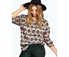 boohoo Tunic Style Tribal Print 3/4 Sleeve Top - multi Folk-inspired styling gets a fashion-forward spin with this statement ikat print tunic . Style it with coloured jeans , a floaty fedora hat and ankle boots . http://www.comparestoreprices.co.uk/womens-clothes/boohoo-tunic-style-tribal-print-3-4-sleeve-top--multi.asp