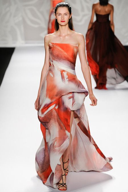 Monique Lhuillier Spring 2014 Ready-to-Wear Collection #NYFW