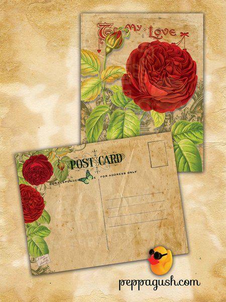 Personalized Vintage Valentine Postcard