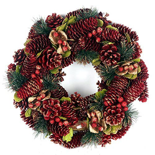 Natural Painted Pinecone And Bayleaf Red Christmas Door W... https://www.amazon.co.uk/dp/B01M4QYZ52/ref=cm_sw_r_pi_dp_x_zLghybC3HH46W