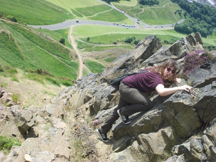 Climbing Arthur's Seat at home in Edinburgh!