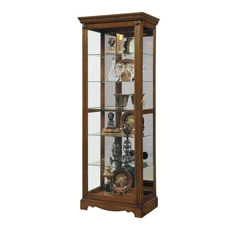 Pulaski Curio Mirrored Display Cabinet In Brown Best