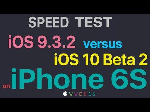 Speed Test Compares iOS 10 Beta 2 Against iOS 9.3.2 | Geektech