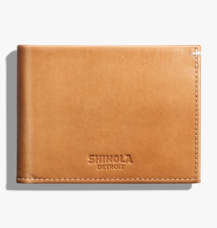 Slim Bi-fold Wallet  https://www.shinola.com/slim-bifold-wallet.html