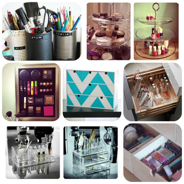 Les 22 Meilleures Images Propos De Je Range Mon Maquillage Sur Pinterest Rangements