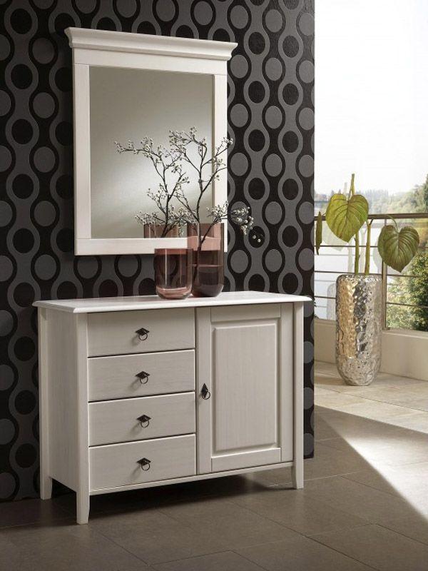Спальня «Боцен» scandinavian style, wooden futniture, white  dresser with mirror ,  скандинавский стиль ,  белая мебель , белый комод , деревянная мебель