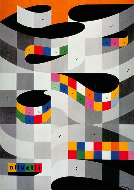 Herbert Bayer, Olivetti poster, 1953