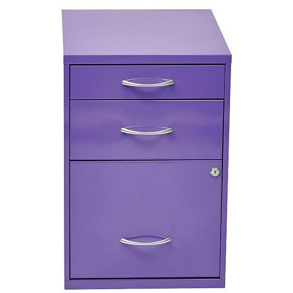 "Office Star 22"" Pencil/ Box/ Storage File Cabinet ($153) ❤ liked on Polyvore featuring home, furniture, storage & shelves, file cabinets, purple, drawer file cabinet, storage cabinets, locking storage cabinets and locking file cabinet"