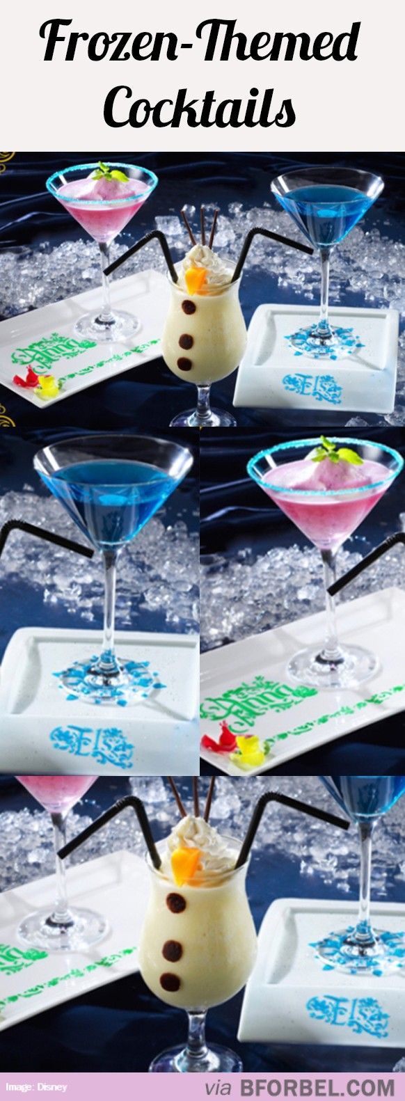 Frozen Themed Cocktails…