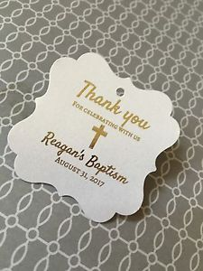 Baptism Favor Tags Gold Foil MI Batismo MI Bautizo | eBay