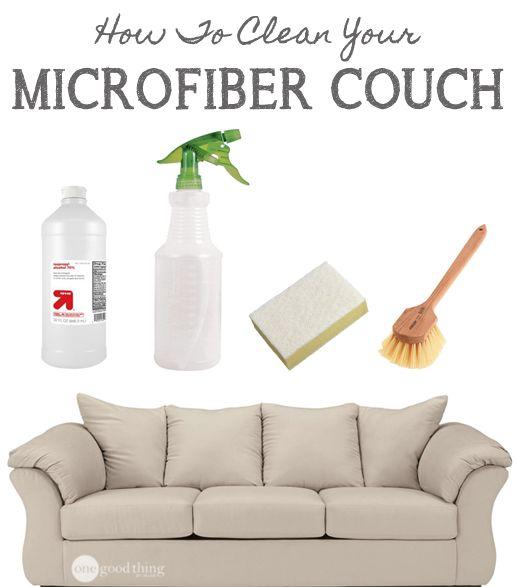 how to steam clean a microfiber sofa
