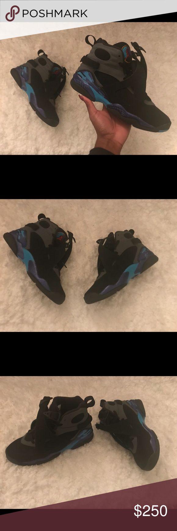 Air Jordan Aqua 8 Size 5.5Y Worn only a few times No box Air Jordan Shoes Athletic Shoes