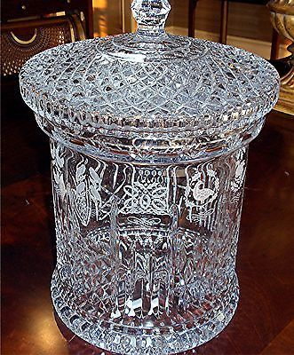 RARE No 500 Signed Waterford Crystal Biscuit Barrel 12 Days of Christmas | eBay