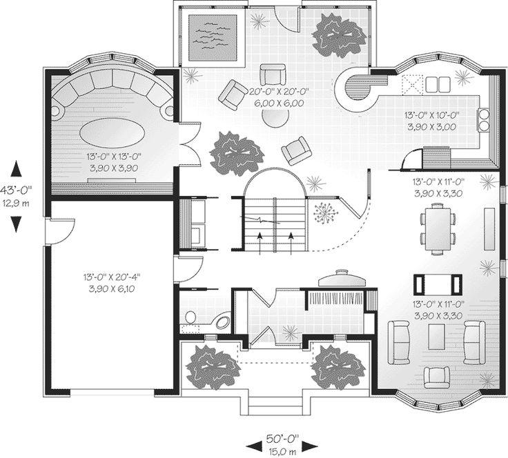 259 best Unique Floor Plans images on Pinterest