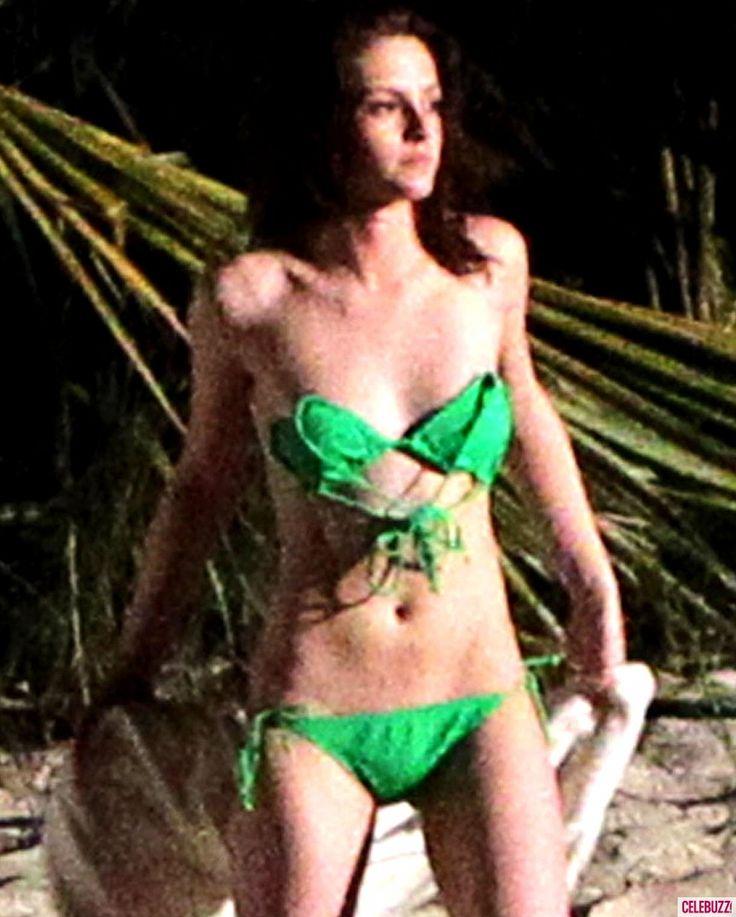Kristen Stewart on location in Caribbean for Breaking Dawn 1