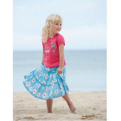 Frugi Παιδική Φούστα με Σούρες – Ocean Dotty Daisy - Sunnyside