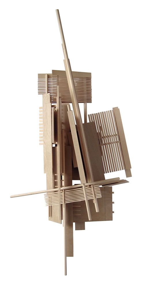 Wood Sculpture Inspired by Architectural Model Making Techniques