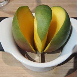 Magikuchen Stainless Steel Mango Cutter/Corer/De-Corer/Slicer/Wedger/Chopper/Divider/Peeler with Ergonomic strong Non-Slip Grip Handles and Sharp Blades for easy coring & cutting satisfaction!