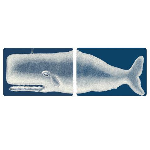 Set de 2 plateaux - Melamine - Baleine