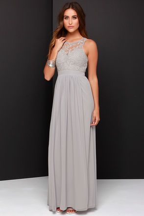 Ashley Brown ordered!  Got free shipping and 10% off with sign up for emails.   Lovely Grey Dress - Lace Dress - Maxi Dress - Backless Dress - $58.00