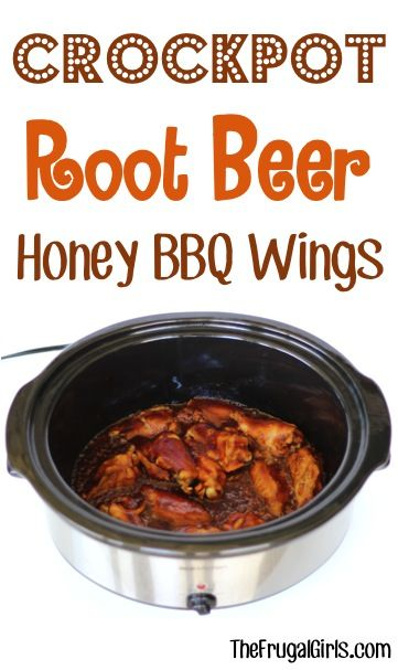 Crockpot Root Beer Honey BBQ Chicken Wings Recipe! ~ from TheFrugalGirls.com - just 3 ingredients and you've got a delicious Slow Cooker barbecue chicken dish and perfect Game Day food! #slowcooker #recipes #thefrugalgirls