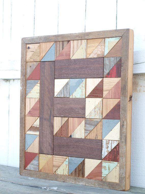 monogram letter block barn board letter by IlluminativeHarvest