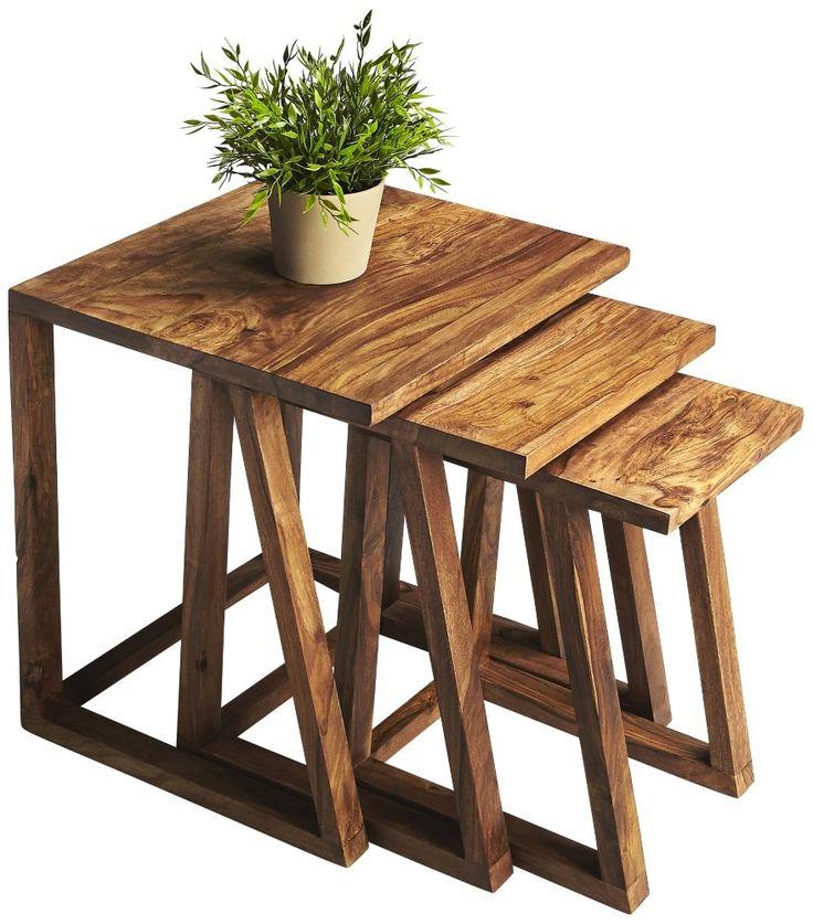 amazoncom loft 3 piece nesting tables