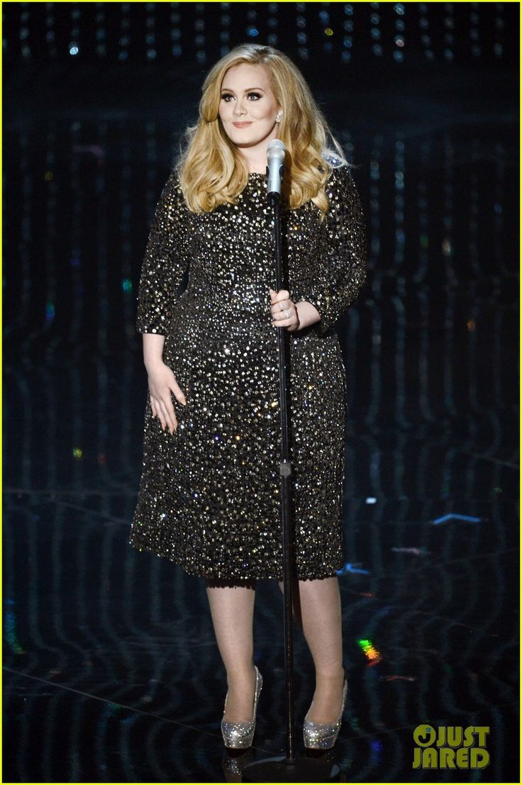 Adele Oscars 2013 performance dress (hair and makeup flawless as always!)