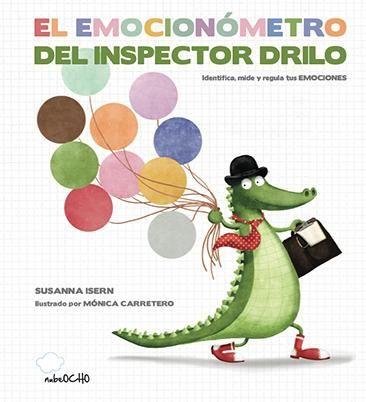 El Manual más completo para ayudarnos a  entender, medir y regular nuestras emociones. El Inspector Drilo nos ayudará a entender  las diez emociones básicas con su gran invento: el EMOCIONÓMETRO.  Sabremos qué sentimos con esta rueda de emociones.
