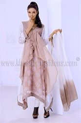 Picture of Chifon Churidar and Kameez in Beige