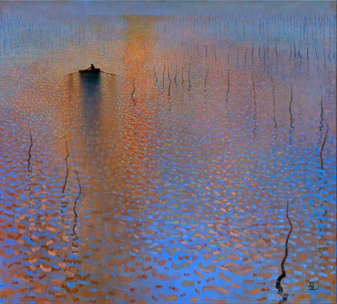 ♒ Art in the Abstract ♒  modern painting - Ton Dubbeldam - Impression, Soleil Levant