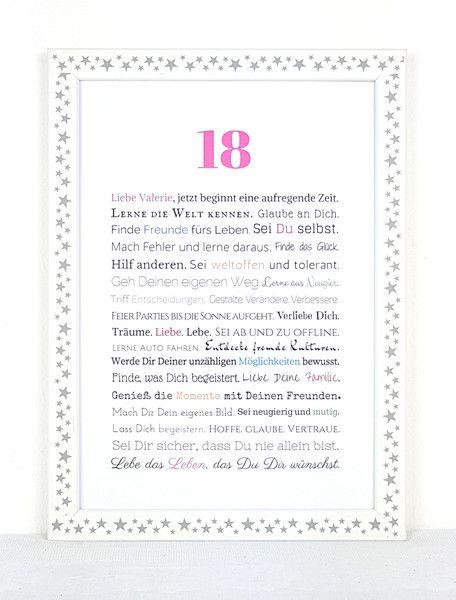 Gastgeschenke - Volljährigkeit - Geschenk zum 18. Geburtstag (♀) - ein Designerstück von Frau-Soth bei DaWanda