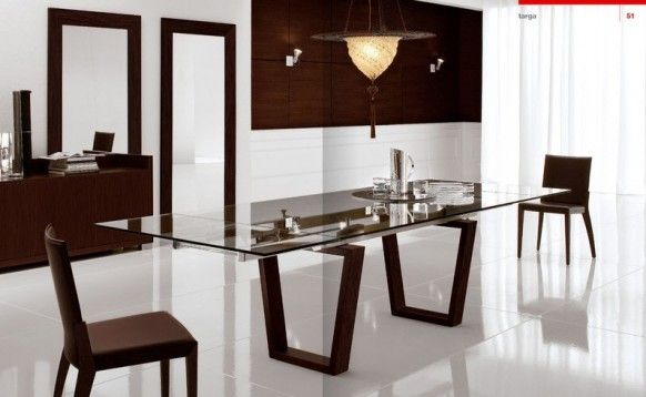 Dining room Cattelan Italia classic wooden furniture Italy