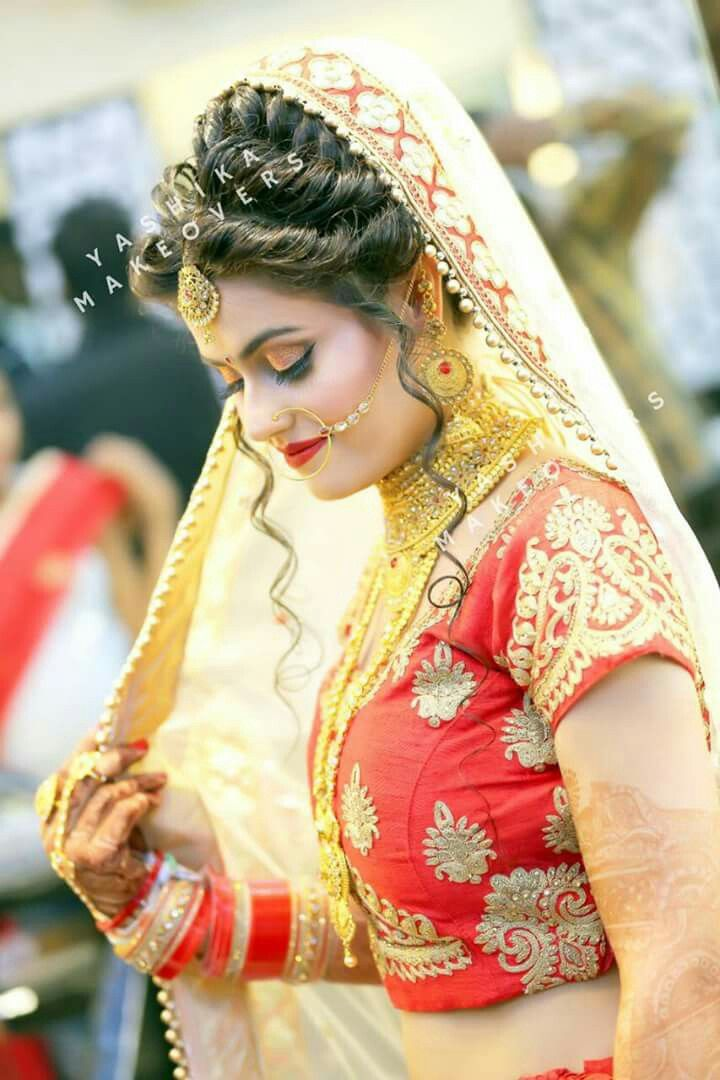 Best 25+ Dulhan Hair Style Ideas On Pinterest | Indian Wedding Hairstyles Pakistani Hair And ...
