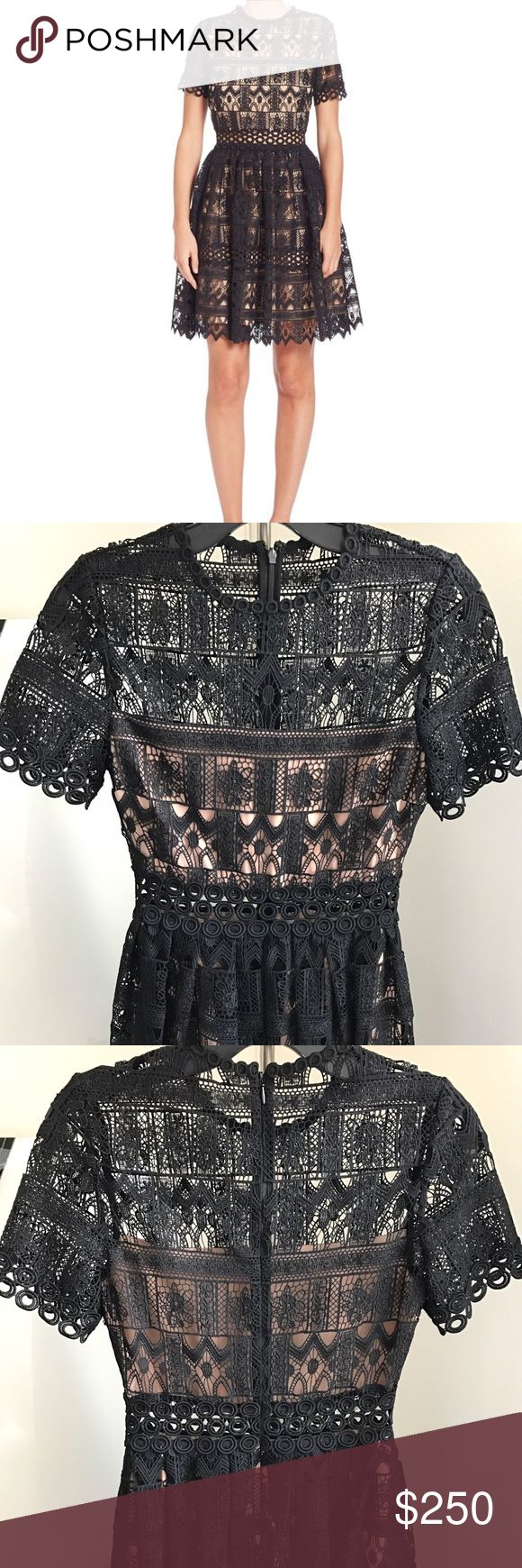 Alexis Lula Lace Dress - NWT A romantic lace Alexis dress with sheer panels at the yoke and waist. Crew neckline. Short sleeves. Hidden back zip. Partially lined. Brand new with tags. Retails $594.00. Alexis Dresses Mini