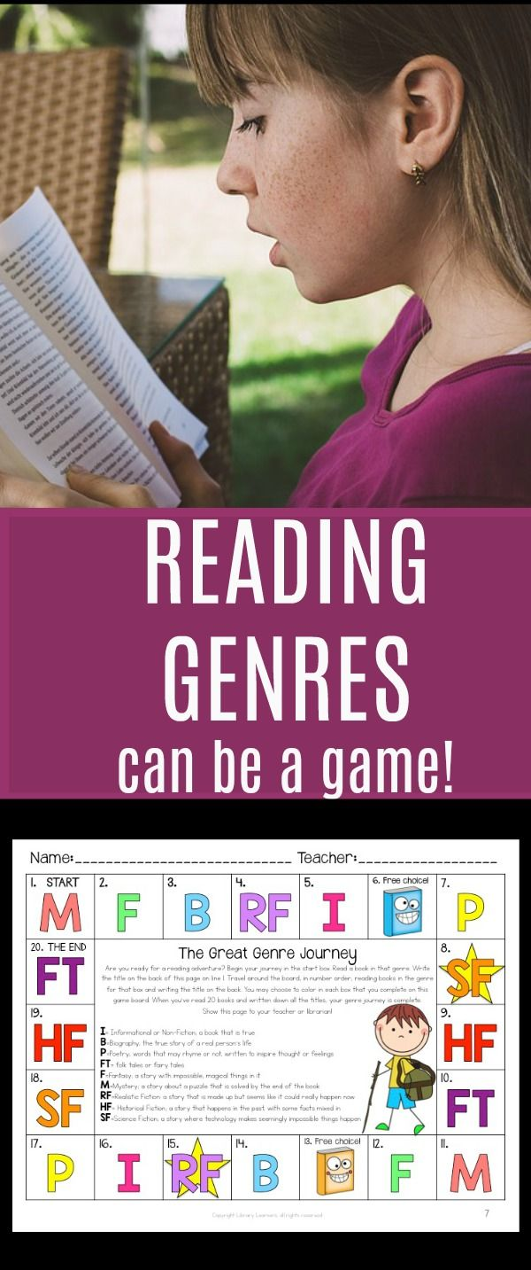 Can Literary Genres Activities Be More Like A Game And Less Like A Worksheet Yes With The Great Genre Journey P Genre Activities Reading Genres Reading Games